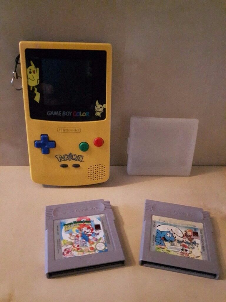 Pokemon games for gameboy color - Nintendo Game Boy Color Cgb 001 Pokemon Limited Edition Yellow Gameboy With Mario