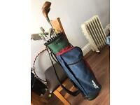 Golf clubs, with bag