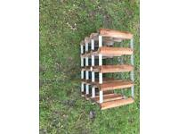 Wire rack wooden