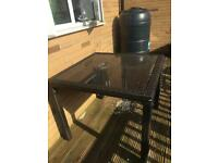 Black Next Garden Table. MUST GO.