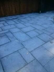 Granite blue black patio slabs