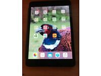 Dark grey iPad Mini 64gb with magnetic cover, which works as a stand