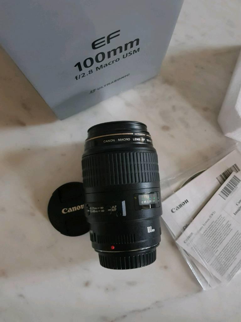 CANON f2.8 100mm macro lens