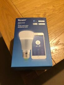 Brand New Smart Home Coloured Light Bulb works with Amazon Alexa