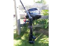 Tohatsu 3.5hp four stroke, short shaft as new.