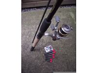 Ron Thompson 11ft Pro Pellet Waggler fishing rod, Shimano Exage 3000 reel. With 6 pellet wagglers.