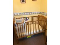 Mamas and Papas Cot including mattress