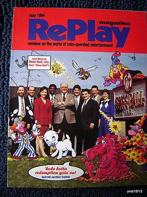 5/1994 REPLAY MAGAZINE*redemption* Rescue 911/Rock-Ola Jukebox/Neo-Geo/pinball