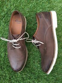 Clarks Walnut Leather Men s Shoes - Size 10.5 502ad599e18c
