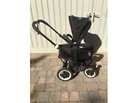 Bugaboo black chassis donkey puschair