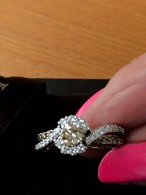 Le Vian Chocolate Diamond ring white gold