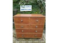 Large Solid mahogany chest of drawers