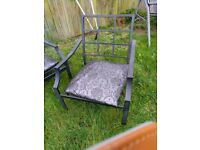 Garden settee two chairs not table