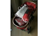 mothercare orb all terrain pram and pushchair - berry