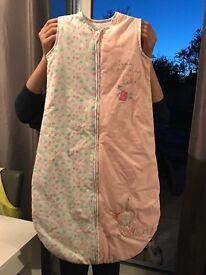 Mothercare baby girl grow bag 6-18 months 2.5 tog