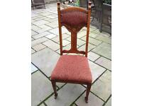 6 ANTIQUE EDWARDIAN DINING ROOM CHAIRS.