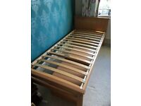 John Lewis single bed & matching under-bed cupboard