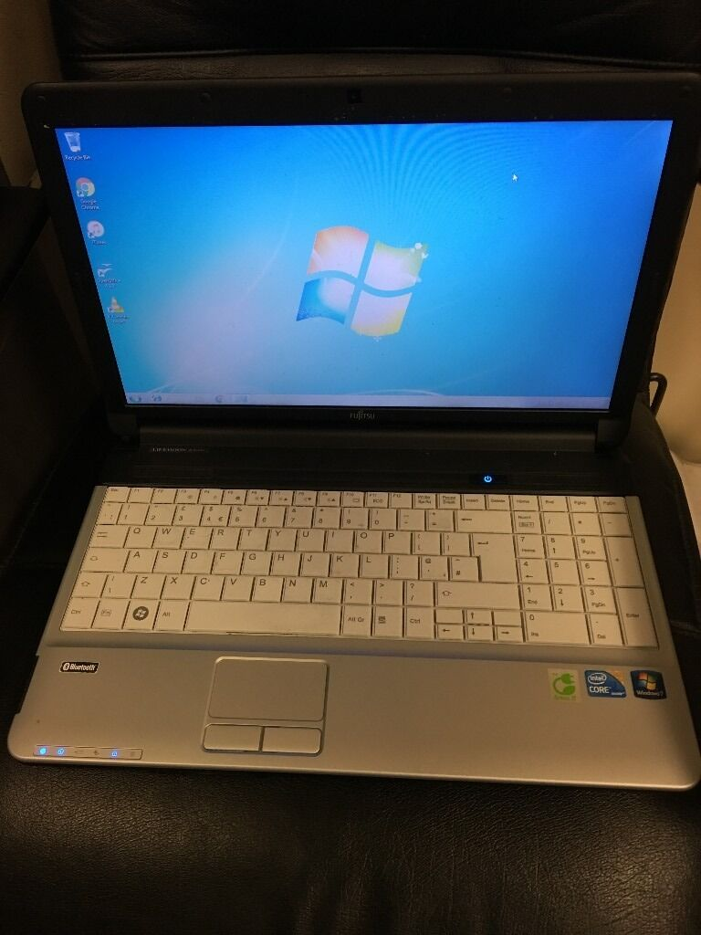 Fujitsu intel i3 Laptop with 750GB Hard drive, webcam