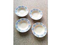 4 Italian pasta bowls - The Pier, hand painted in Italy