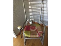 Upcycled rocking chair excellent condition with newly upholstered seat pad