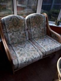 Cane two seat sofa