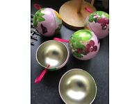 Beautiful decorated Empty light weight Balls For gifts