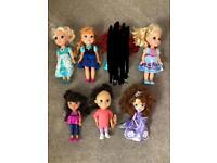 Disney Dolls - Anna, Elsa, Cinderella, Sofia, Dora & Boo