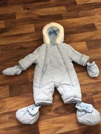 Designer Spanish Mayoral snowsuit newborn