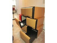 3 part wooden storage unit freestanding for up to 200 CD/DVD