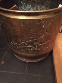Victorian Copper Coal Bucket