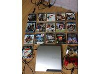 PS3 Slim 320gb Silver (Playstation 3) games + Controllers Rare Special Edition Matt Silver Swap