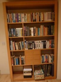 book shelves and drawers