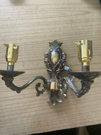Brass antique candle light