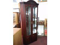 Mahogany 2 Door Corner Display Cabinet