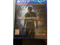 Uncharted 4 a thief's end (new Unopened) £28 or nearest offer