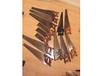 Job lot of hand saws 13 in total