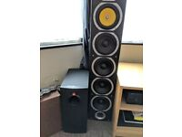 Home Audio HiFi Set-Up inc. 3 Tower speakers 600W, 1 Subwoofer, 1 Amplifier