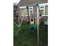 TP Single Wooden Swing