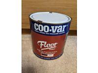Coo-Var Floor Paint (internal & external), 2.5 litre tin, Tan colour (