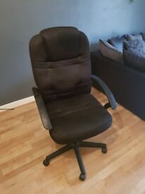 Office Chair - black high back height adjustable desk chair. Used but in great condition