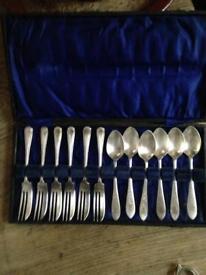 Hallmarked espn spoon and cake fork set