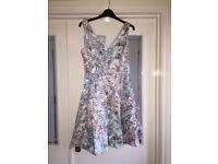 Blue Floral Coast dress - size 8