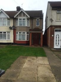 Lovely 3 bed semi detached on Dunstable Road Luton LU4 8DJ close to M1 Motorway £1050pcm