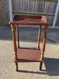 Tall solid wood side table