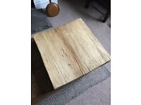 Large wood block square cake stand shop wedding party decoration rustic