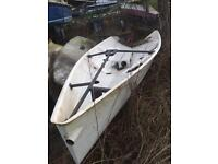 Free boat hull!!! Sailing rowing fishing project garden feature