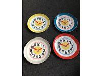 Cath Kidston set of 4 Clock side plates