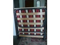 Single folding z bed with headboard