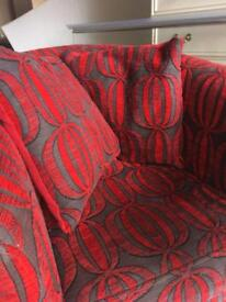 Red and Black armchair