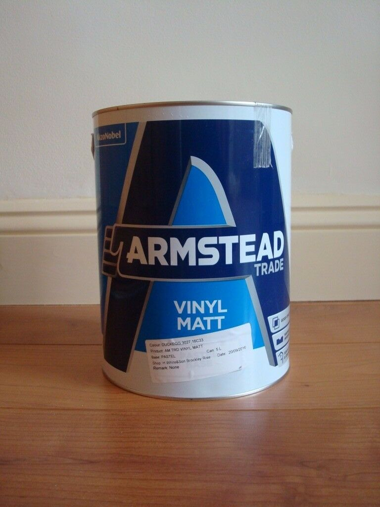 ***Beautiful Victorian Period Colour Paint - Armstead Vinyl Matt Dug Egg 3 x 5 Litres***